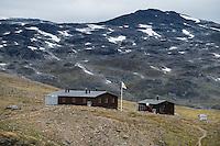 STF Tjäkjta mountain hut, Kungsleden Trail, Lapland, Sweden