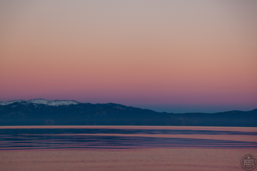 """Sunset at Lake Tahoe 11"" - This peaceful sunset was photographed from the West Shore of Lake Tahoe."