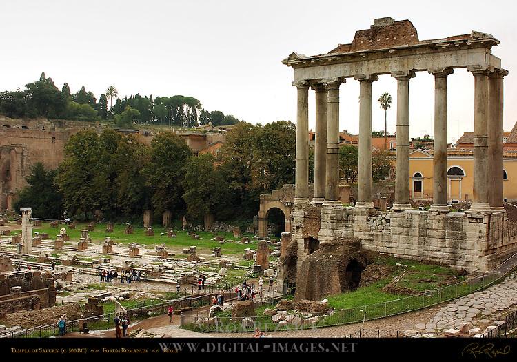Temple of Saturn 500 BC Basilica Julia Forum Romanum Rome