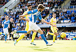 St Johnstone v Hearts&hellip;17.09.16.. McDiarmid Park  SPFL<br />Murray Davidson misses a good chance to score<br />Picture by Graeme Hart.<br />Copyright Perthshire Picture Agency<br />Tel: 01738 623350  Mobile: 07990 594431