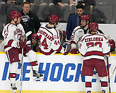 Sean Malone (Harvard - 17), Matt Whalen (Harvard - Athletic Trainer), Ryan Donato (Harvard - 16), Michael Floodstrand (Harvard - 44), Alexander Kerfoot (Harvard - 14), Rob Rassey (Harvard - Assistant Coach), Devin Tringale (Harvard - 22), Phil Zielonka (Harvard - 72) - The Harvard University Crimson defeated the Providence College Friars 3-0 in their NCAA East regional semi-final on Friday, March 24, 2017, at Dunkin' Donuts Center in Providence, Rhode Island.