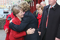 President McAleese has visited the Focus Ireland Coffee Shop.20/12/2010. .Picture James Horan/Collins Photos
