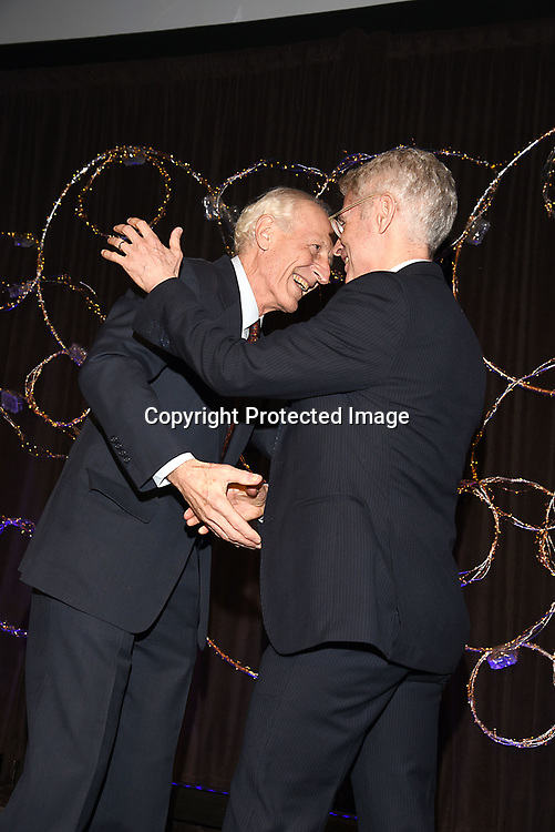 Dr Richard Soghoian and Dr Bill Donahue attend the Columbia Grammar & Prep School 2017 Benefit on March 8, 2017 at Cipriani Wall Street in New York, New York.