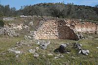 Tomb, or shaft grave, Mycenae, 16th century BC, excavated 1874-76, by German archaeologist Heinrich Schliemann, 1822-90