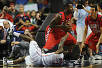 Florida's Kenny Boynton (1) loses the ball to Ole Miss' Murphy Holloway (31) in the SEC championship game at Bridgestone Arena in Nashville, Tenn. on Sunday, March 17, 2013.
