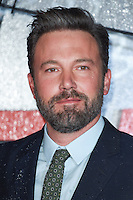LONDON, UK. October 17, 2016: Ben Affleck at the premiere of &quot;The Accountant&quot; at the Empire Leicester Square, London.<br /> Picture: Steve Vas/Featureflash/SilverHub 0208 004 5359/ 07711 972644 Editors@silverhubmedia.com