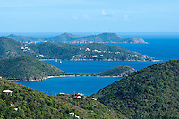 View of Coral Bay and beyond.St. John.U.S. Virgin Islands