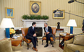 United States President Barack Obama, right, and Prime Minister Justin Trudeau, left, hold a bilateral meeting in the Oval Office of the White House March 10, 2016 following an Official Arrival Ceremony in Washington,D.C.<br /> Credit: Olivier Douliery / Pool via CNP