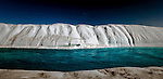 Melt River, Petermann Glacier, Greenland - a river flowing on ice, which is itself a floating ice tongue, floating on a fjord.  In 2010 and 2012 Petermann calved ice islands totalling 400 square kilometres.<br /> Limited edition C-Type Prints available - contact me for more details.