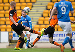 St Johnstone v Dundee United...09.05.15   SPFL<br /> Michael O'Halloran outs the ball over the bar<br /> Picture by Graeme Hart.<br /> Copyright Perthshire Picture Agency<br /> Tel: 01738 623350  Mobile: 07990 594431