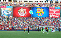 Over look of the stadium during the game. Manchester United defeated Barcelona FC 2-1 at FedEx Field in Landover, MD Saturday July 30, 2011.