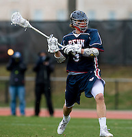 Will Amling (9) of Penn looks to shoot at Ludwig Field in College Park, Maryland.