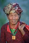 A woman in Majhitar, a village in the Dhading District of Nepal.