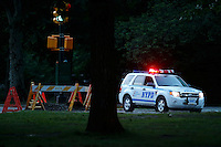 A NYPD's car patrol the streets of central park in New York.  06/05/2015. Eduardo MunozAlvarez/VIEWpress
