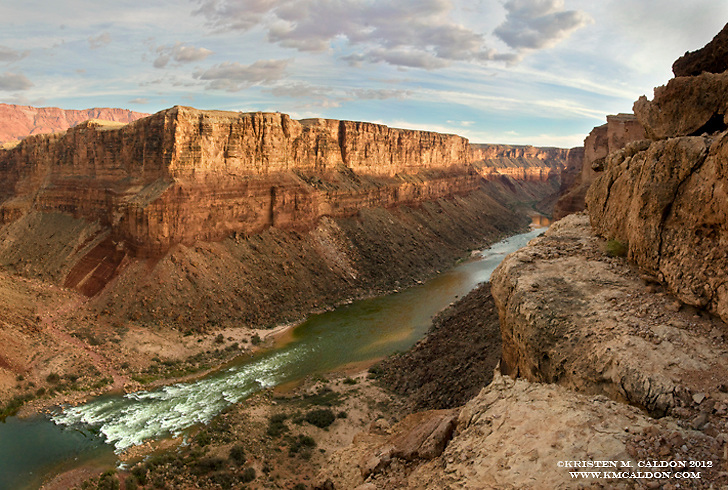 Badger Rapid, the first big one for boaters on the Colorado River in Grand Canyon.