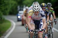 Adam Hansen (AUS) leading the breakaway<br /> <br /> 2013 Ster ZLM Tour <br /> stage 4: Verviers - La Gileppe (186km)