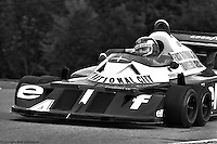 BOWMANVILLE, ONT: Patrick Depailler drives the Tyrrell P34 7/Ford Cosworth DFV during the 1977 Canadian Grand Prix on October 9, 1977, at Mosport Park near Bowmanville, Ontario.