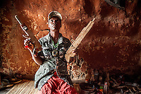 Pasqua Mutundu (35), also known as witchdoctor Elisabet. For the last 15 years she has been possessed by the spirit of a white Zimbabwean soldier who was killed in Mozambique during the civil war.
