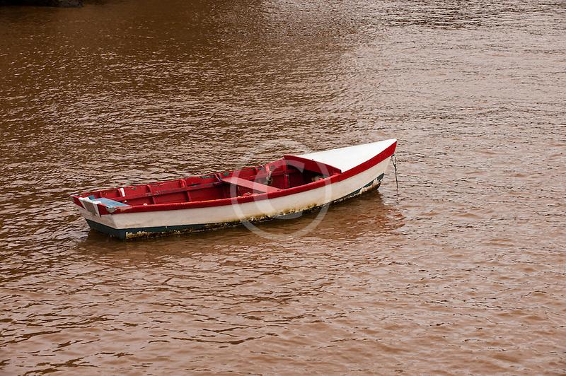 Uruguay, Colonia de Sacramento, Derelict boat