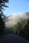 Morning fog disappears over the top of the mountain on I-80 in Hyden , Ky., on Saturday, October, 12, 2013. Photo by Rachel Walker