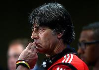 Germany coach Joachim Loew during a press conference ahead of tomorrow's semi final vs Brazil