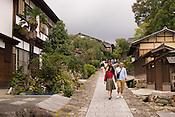 Street scenes of the small tourist town, Magaome.