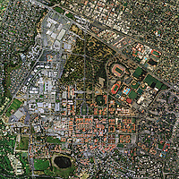 aerial photo map Stanford University