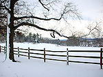 Oatlands Plantation Snow field with split rail fence Virginia, Fine Art Photography by Ron Bennett, Fine Art, Fine Art photography, Art Photography, Copyright RonBennettPhotography.com ©