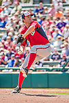 21 March 2015: Washington pitcher Casey Janssen on the mound during a Spring Training Split Squad game against the Atlanta Braves at Champion Stadium at the ESPN Wide World of Sports Complex in Kissimmee, Florida. The Braves defeated the Nationals 5-2 in Grapefruit League play. Mandatory Credit: Ed Wolfstein Photo *** RAW (NEF) Image File Available ***