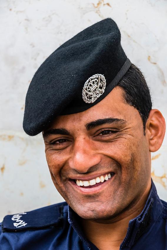 Jordanian soldier, Amman Citadel, Jordan.