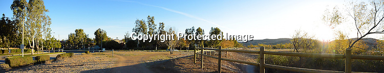 Panoramic stock photo of an Orange County California Park