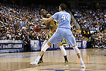 14 March 2015: Notre Dame's Jerian Grant (22) and North Carolina's Justin Jackson (44). The Notre Dame Fighting Irish played the University of North Carolina Tar Heels in an NCAA Division I Men's basketball game at the Greensboro Coliseum in Greensboro, North Carolina in the ACC Men's Basketball Tournament quarterfinal game. Notre Dame won the game 90-82.