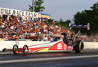 Jun 3, 2016; Epping , NH, USA; NHRA top fuel driver Doug Kalitta during qualifying for the New England Nationals at New England Dragway. Mandatory Credit: Mark J. Rebilas-USA TODAY Sports