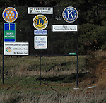 11/7/07 Smith Center, KS.Signs as you enter Smith Center, KS...(Chris Machian/Prairie Pixel Group)
