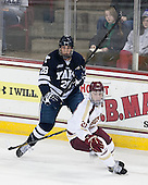 Antoine Laganiere (Yale - 28), Steven Whitney (BC - 21) - The Boston College Eagles tied the visiting Yale University Bulldogs 3-3 on Friday, January 4, 2013, at Kelley Rink in Conte Forum in Chestnut Hill, Massachusetts.