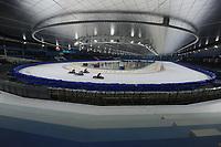MOTORSPORT: HEERENVEEN: 30-03-2017, IJsstadion Thialf, IJsspeedway training, overzicht, ©foto Martin de Jong
