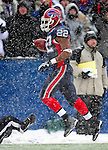 3 January 2010: Buffalo Bills' running back Fred Jackson (22) during a game against the Indianapolis Colts on a cold, snowy, final game of the season at Ralph Wilson Stadium in Orchard Park, New York. Jackson broke the 1000 yard mark for rushing, as the Bills defeated the Colts 30-7. Mandatory Credit: Ed Wolfstein Photo