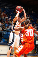 SAN ANTONIO, TX - FEBRUARY 25, 2006: The Sam Houston State University Bearkats vs. The University of Texas at San Antonio Roadrunners Women's Basketball at the UTSA Convocation Center. (Photo by Jeff Huehn)