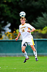 12 October 2011: University of Vermont Catamount Defender Taylor Stapf, a Freshman from Kirkland, WA, in action against the Boston University Terriers at Centennial Field in Burlington, Vermont. The Catamounts were edged out 1-0 by the visiting Terriers. Mandatory Credit: Ed Wolfstein Photo