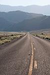 Nevada SR 722 and the Desatoya Range, morning