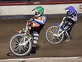 Heat 12 - Hefenbrock (green), Tomicek  - Lakeside Hammers vs Peterborough Panthers - Sky Sports Elite League at Arena Essex, Purfleet - 31/08/07  - MANDATORY CREDIT: Gavin Ellis/TGSPHOTO - SELF-BILLING APPLIES WHERE APPROPRIATE. NO UNPAID USE. TEL: 0845 094 6026..