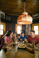 Tiroler Oberland, Austria, August 2009. A family hikes from the Radurschltal Valley to the Hohenzollernhaus hut, where they enjoy a meal of kasspatzen and an overnight in the lager of the hut. Photo by Frits Meyst/Adventure4ever.com