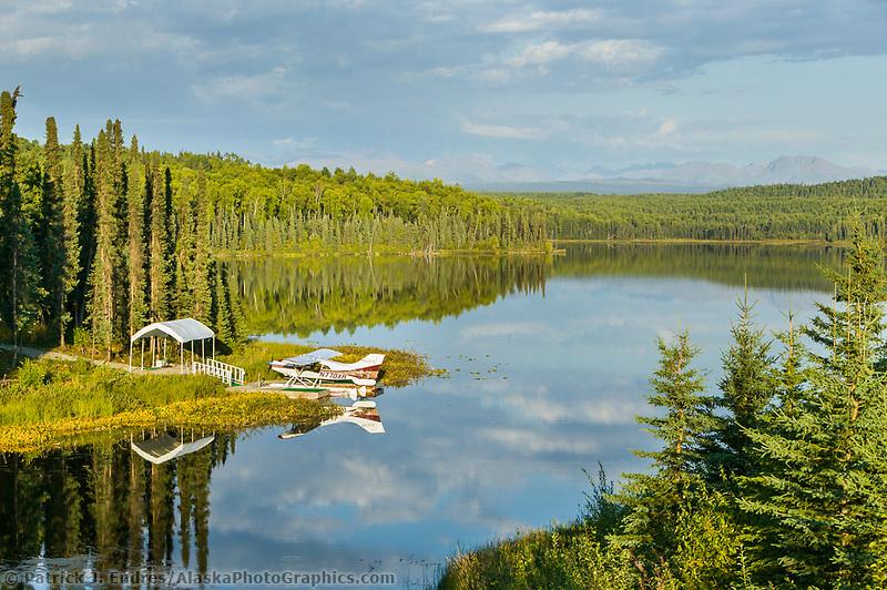 Float planes on Fish Lake, Talkeetna, Alaska