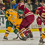 19 February 2016: University of Vermont Catamount Forward Jarrid Privitera, a Sophomore from Old Tappan, NJ, in first period action against the Boston College Eagles at Gutterson Fieldhouse in Burlington, Vermont. The Eagles defeated the Catamounts 3-1 in the first game of their weekend series. Mandatory Credit: Ed Wolfstein Photo *** RAW (NEF) Image File Available ***