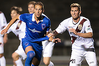 Irvine, California - Saturday April 12, 2014: The OC Blues FC defeated Sacramento Republic FC 2-1 in an USL PRO match at Anteater stadium on the campus of UC Irvine.