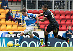St Johnstone v Celtic&hellip;20.08.16..  McDiarmid Park  SPFL<br />Saidy Janko fouls Danny Swanson<br />Picture by Graeme Hart.<br />Copyright Perthshire Picture Agency<br />Tel: 01738 623350  Mobile: 07990 594431