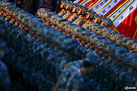 Soldiers of the People's Liberation Army (PLA) of China march in formation past the Tiananmen Square before a military parade to mark the 70th anniversary of the end of World War Two, in Beijing, China, September 3, 2015.   REUTERS/Damir Sagolj