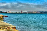 Golden Gate Bridge, San Francisco, suspension bridge, SFO