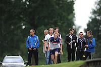 FIERLJEPPEN: GRIJPSKERK: Fierljepaccomodatie 'De Enk', 16-08-2014, ROC Friese Poort competitie 2014, Sytse Bokma, ©foto Martin de Jong