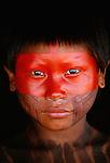 Kayapo boy, Kapoto village, Para, Brazil